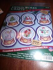 Design Works SNOWGLOBE ORNAMENTS Counted Cross Stitch Kit Make 6