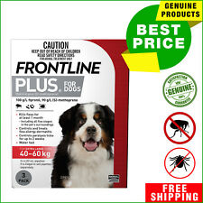 FRONTLINE PLUS Flea and Tick treatment for Dog 40 to 60 Kg 3 Pipettes Red Pack