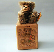 "Robert Raikes Bear ""Freya In Hand Carved Box With Coa And Box"