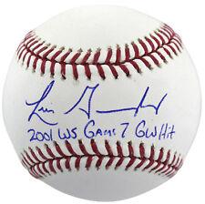 """D-Backs Luis Gonzalez """"2001 Ws G7 Gw Hit"""" Signed Authentic OML Baseball BAS"""
