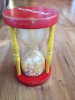 Vintage Playskool Hour Glass Rattle Toy