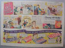 Nestle's Chocolate Bars Ad: He's A Jolly Good Fellow ! 1930's-1940's 11 x 15