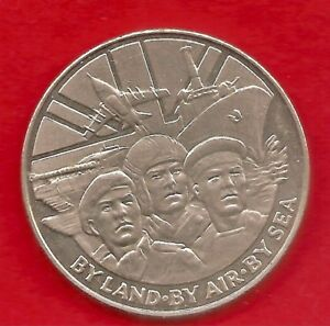 liberation of kuwait 1991; by land ,by sea ,by air  38mm crown size . nice clean