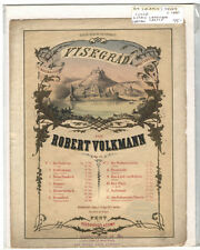 Rare Antique Original VTG c1880 Visegrad Robert Volkmann Piano Sheet Music Print
