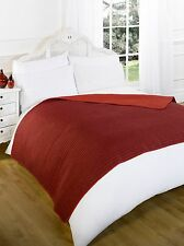Reversible Quilted Warm Bed Sofa Throw Blanket - 150x200cm - Red
