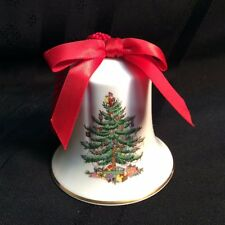 Vintage Spode Christmas Tree Bell; Fine Bone China; (ZZ  A-front)