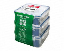 Lock&Lock �–ko Set 823O3, 3-tlg. quatratisch Frischhaltedose