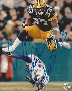 William Henderson Green Bay Packers Autographed  8x10  Photo against Vikings