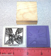 Stampin Up Close to Nature Stamp Single Holly Berries with Leaves in a Border