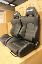 2 x SR5  seat in Ultra hard wearing PVC. White stitching Recaro style