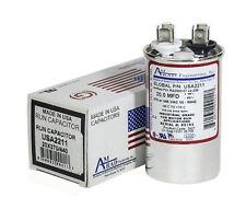 20 MFD x 370 / 440 VAC Round Run Capacitor AmRad USA2211 - Made in the USA
