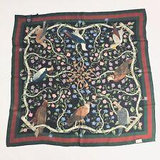 Gucci 100% Silk Condor Web Stripe Shawl/Scarf #407198, NWT