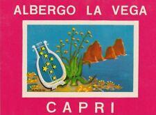 1978 Old Valise Autocollant luggage label HÔTEL LA VEGA CAPRI ITALIE ITALY ITALIA