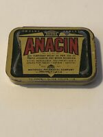 Vintage Anacin Pain Medicene Tin Whitehall Pharmacal