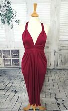 BNWT TEMPERLEY London 100% Silk rose dress pink/red quirky size 8