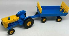 Matchbox Lesney No 39 Blue & Yellow Ford Tractor & No 40 Trailer