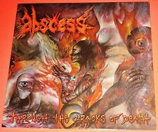 Abscess: Through The Cracks Of Death LP Vinyl Record 2012 Peaceville Germany NEW
