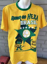 Brazil Brasil FIFA World Cup 2010 Runo Ao Hexa Large T-Shirt South Africa