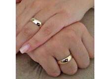Lote 2 Alianzas de boda en Tungsteno con recubrimiento oro IP