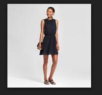 NEW Women's Textured Chevron Dress - A New Day Black SIZE XS