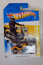 HARLEY DAVIDSON  FAT BOY  HOTWHEELS  MOTORCYCLE  YELLOW