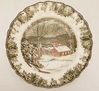 """Vtg Johnson Bros The Friendly Village The Schoolhouse Dinner Plate 9.5"""" Diameter"""