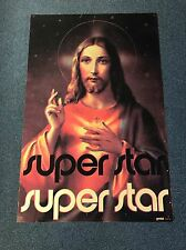 RARE Vintage 1971 Jesus Christ Super Star Gemini Rising Black Light Poster #171