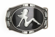 Trucker Mud Flap Girl Metal Belt Buckle