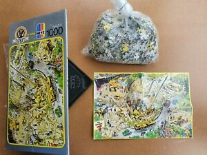 RARE HEYE 1000 PIECE JIGSAW PUZZLE BY JEAN JACQUE LOUP - NO DANGER - WITH POSTER