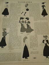 Glissades Patins à Glace Print Art Humour 1908