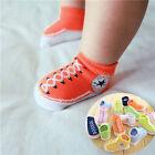 Lovely New Newborn Baby Girl&Boy Kid Anti-slip Socks Sole Crib Shoes 0-12 Months