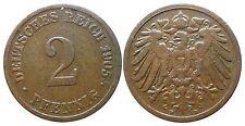 J 11   2 Pfennig Kaiserreich 1905 D in VZ  502860