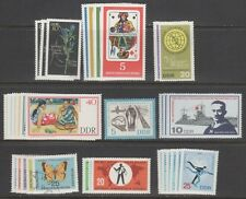 GERMANY,EAST (DDR) STAMPS #629//981—  (9) COMPLETE SETS — 1960s —  UNUSED