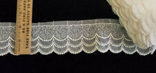 """New listing Vintage/Antique White Cotton 2"""" Embroider Lace 5 Yards"""