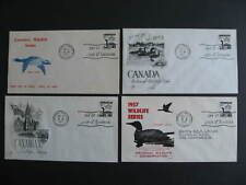 Canada 4 different cachet FDC first day covers Sc 369 Loon