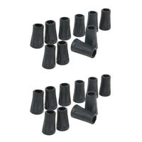 20pcs Rubber Tip For Hiking Trekking Pole Cane Walking Stick Crutches Tools
