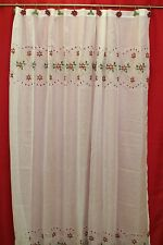Poinsettia Embroidered Cutwork Shower Curtain 70Wx72L High Quality Festive