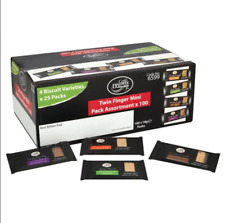 Cafe Bronte Twin Pack Mini Variety Biscuits (Pack of 100) + Free 24h Delivery