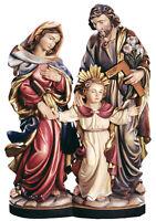 SACRA FAMIGLIA IN LEGNO STATUA- HOLY FAMILY WOOD-CARVED STATUE
