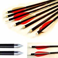 10 Fibra di vetro CARBONE GRADO Tiro Con L'arco, Frecce 71.1cm pollici Bersaglio