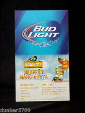 "2014 BUDWEISER BUD LIGHT BEER CARDBOARD TABLE WALL CARD 5"" X 8 1/2"" NEVER USED"