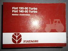 Fiat tracteur 130 -90 Turbo - 140 -90 Turbo : notice d'utilisation