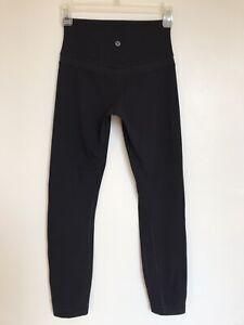 "Lululemon Black Align Pant - Size 4 - Nulu Inseam 25"" High Waist"