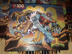 Saban Mighty Morphin Power Rangers MB 100 Piece Puzzle 1994