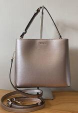 DKNY Bryant Bucket Rose Gold Leather Small Handbag / Crossbody Bag