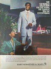1976 Hart Schaffner & Marx men's suit African-American male office vintage ad