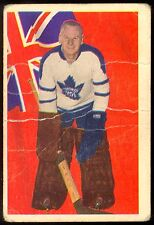 1963 64 PARKHURST HOCKEY #65 JOHNNY JOHN BOWER VG TORONTO MAPLE LEAFS  CARD