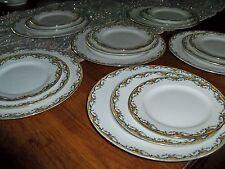 40 Piece Vintage Vignaud Limoges France Dinner Set Service for Six