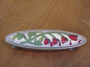 Pull Bleeding Heart Cloisonne Red Ceramic Kitchen Cabinet Dresser PBF678
