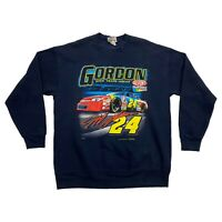Jeff Gordon Open Track Ahead Sweatshirt | Vintage 90s NASCAR Motorsports Navy
